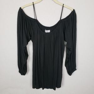 Bailey 44 Cold Shoulder Gathered Top  S